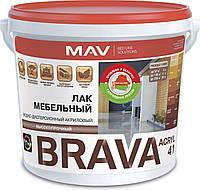 Лак MAV BRAVA ACRYL 41 мебельный Бесцветный полуматовый 3 литра
