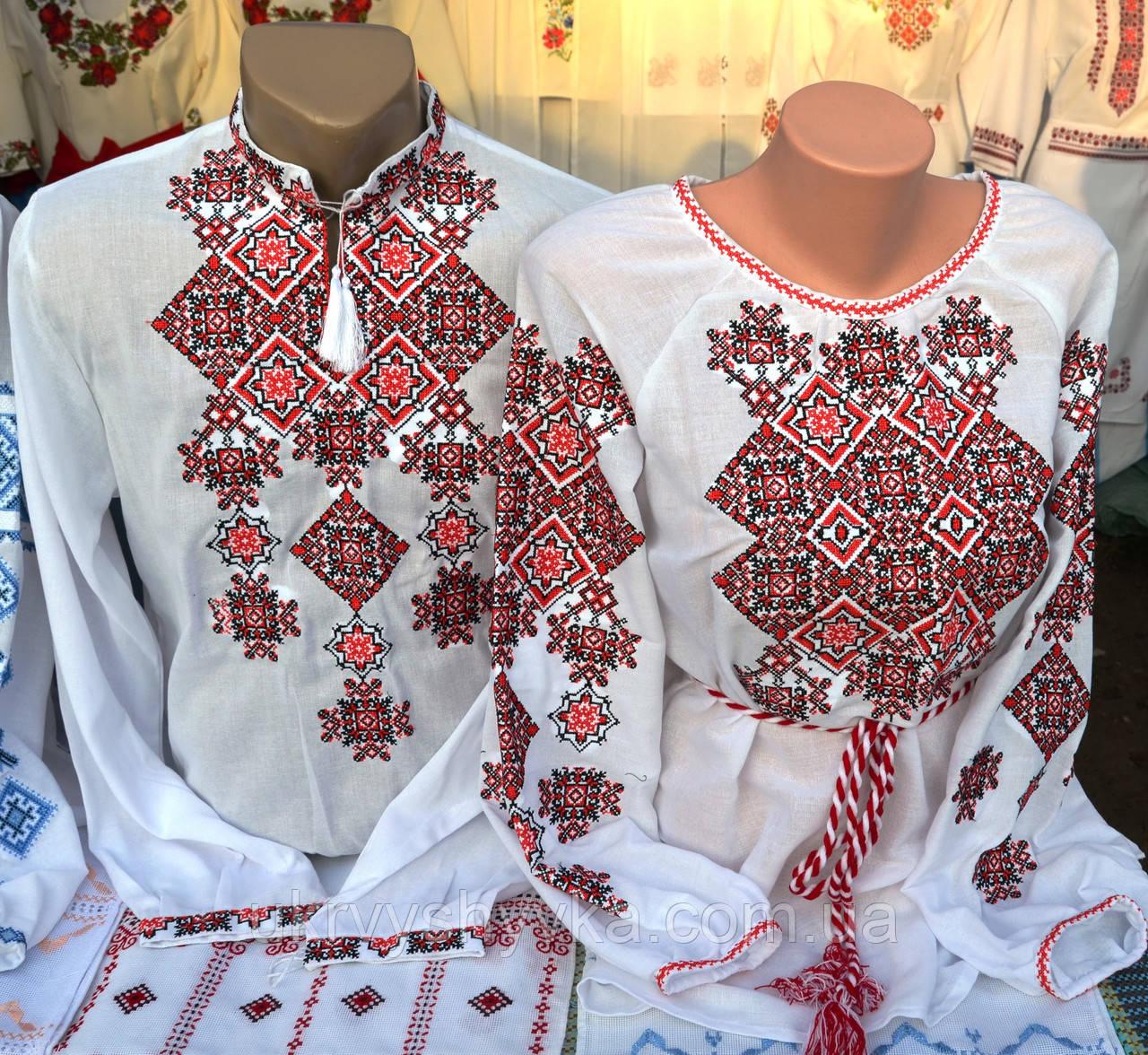сорочки з однаковою вишивкою