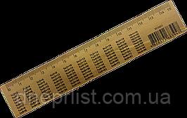 Линейка деревянная, 15 см с таблицей умножения