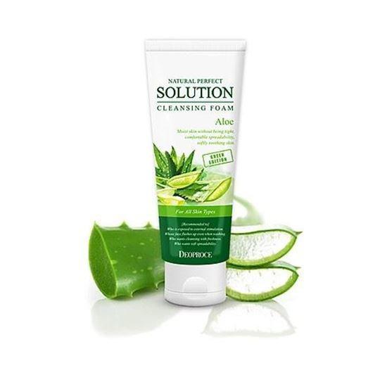 Пенка для умывания с алое Deoproce Natural Perfect Solution Cleansing Foam Aloe