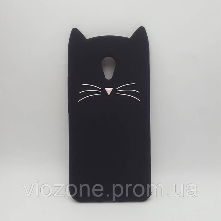 3d Чехол Бампер для Meizu M5c резиновый Кот