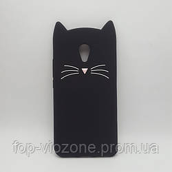 3d Чехол Бампер для Meizu M3s резиновый Кот