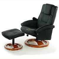 Кресло TV для отдыха с массажем + пуф + Бесплатная доставка