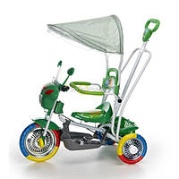 Трёхколёсный мотоцикл зелёный
