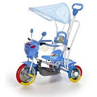 Трёхколёсный мотоцикл голубой