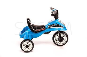 Трёхколёсный скутер синий