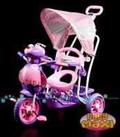 Трёхколёсный велосипед для детей пчела фиолетовый