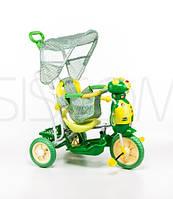 Трёхколёсный велосипед для детей пчела зелёный
