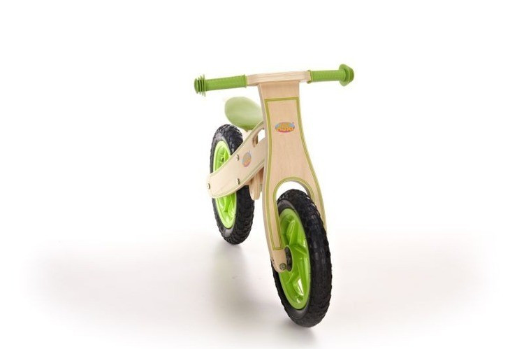 Велосипед с накачиваемыми колёсами зелёный