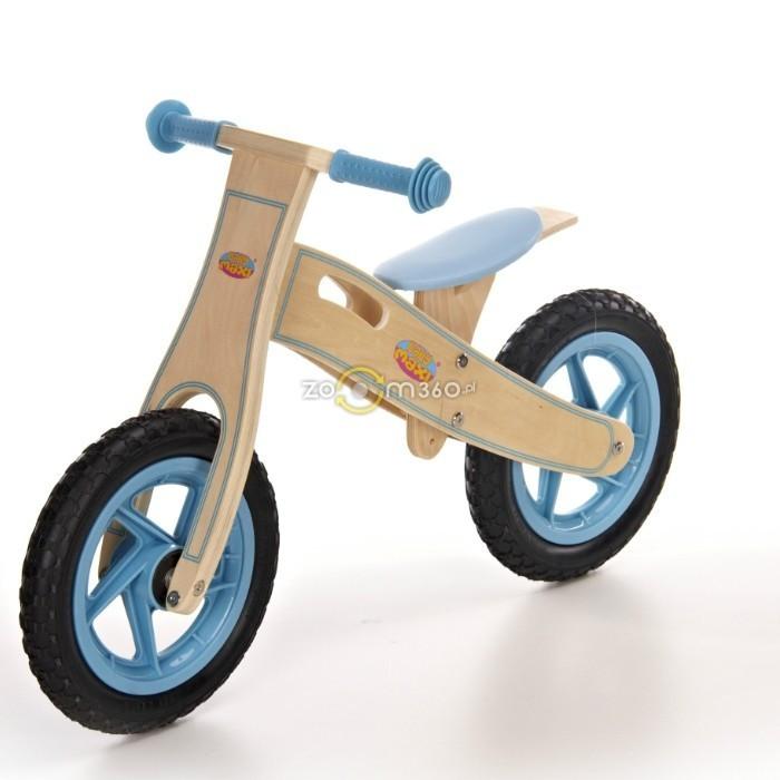 Велосипед с накачиваемыми колёсами голубой