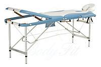 Массажный стол 3 секционный голубо-белый