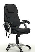 Кресло Thornet чёрное с массажем