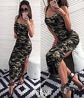 Платье-майка  летнее Kamufljazh миди с разрезом  ! , фото 1
