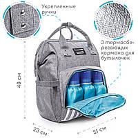 Сумка-рюкзак для мамы + компактный пеленальный матрасик Zupo Crafts (ZC-010), фото 1