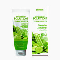 "Пенка для умывания ""свежий огурец"" Deoproce Natural Perfect Solution Cleansing Foam Cucumber"