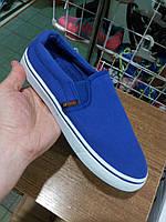 Женские слипоны - кеды низкие синие comfortable female slips - sneakers low blue