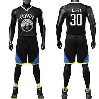 Новая черная форма(майка+шорты) Curry №30 Golden State Warriors