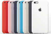 Накладка Silicone Case 100% Original iPhone 6/6s Plus серый