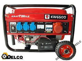 Генератор - KRAFT WELE 6,5KVA/400V/AVR
