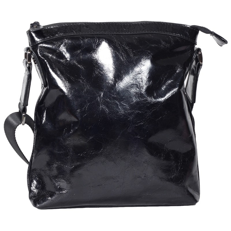 1828be9a9926 Мужская кожаная сумка лакированная Tofionno 0033019 черная - АксМаркет в  Киеве