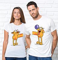 Парные футболки,котопес