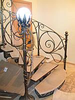 """Кованая лестница в стиле """"Модерн"""".Ручная ковка."""