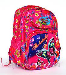 Школьный рюкзак с ортопедической спинкой и с 3Д рисунком розовый