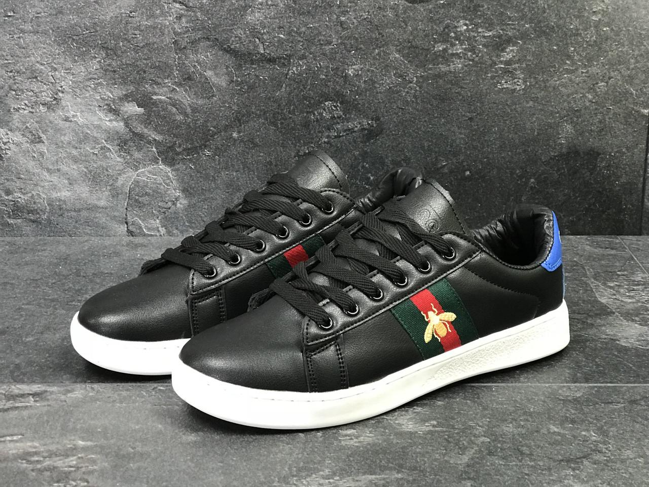 Мужские кроссовки GUCCI (реплика)черно-белые