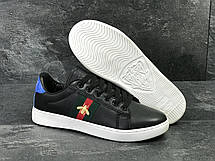 Мужские кроссовки GUCCI (реплика)черно-белые, фото 3