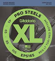 Струны для бас-гитары D'Addario EPS165 ProSteel Stainless Light/Medium Bass Guitar Strings 45-105