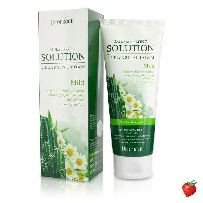Мягкая пенка с экстрактом ромашки и кактуса Deoproce Natural Perfect Solution Cleansing Foam