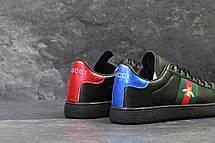 Мужские кроссовки GUCCI (реплика) черные, фото 2