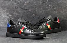 Мужские кроссовки GUCCI (реплика) черные, фото 3