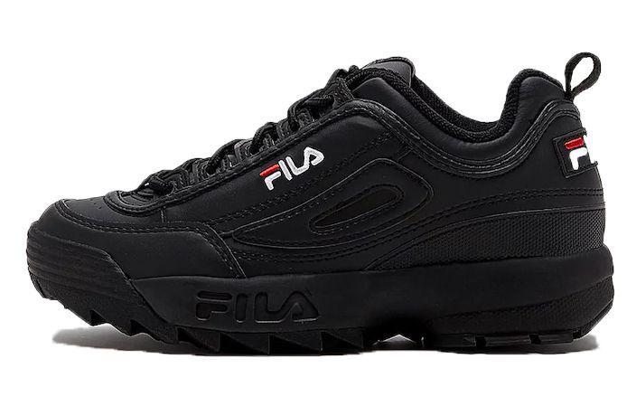 484f0260 Женские кроссовки Fila Disruptor II (в стиле Фила Дизраптор 2) черные -  Мультибрендовый магазин
