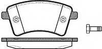 Колодки тормозные передние (к-т) REMSA, 1351.00 Kangoo II без датчика износа