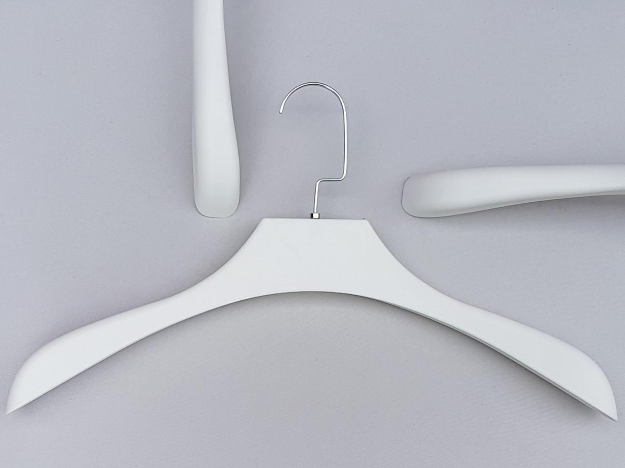 Плечики вешалки тремпеля TZF1102 белого цвета, длина 43 см