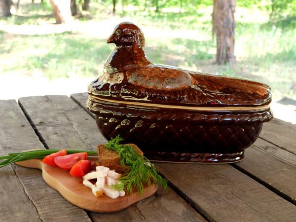 Фазан – жаровня из керамики объемом 3,5 л