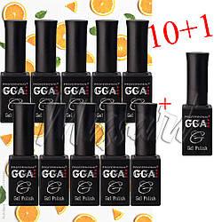 Набор гель лаков GGA Professional 10+1