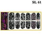 Наклейки Чорне Мереживо для Нігтів Нігтики PhotonailArt Водні, Мала Пластина, Angevi SL 61, фото 2