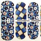 Наклейки Лоскуты для Ногтей Ноготки PhotonailArt Водные Разноцветные, Малая Пластина, Angevi SL 95, фото 3