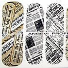 Наклейки Газета для Ногтей Ноготки PhotonailArt Водные Разноцветные, Малая Пластина, Angevi SL 96, фото 3