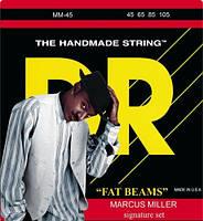 Струны для бас-гитары DR MM-45 Fat Beams Marcus Miller Series Medium Bass Strings 45-105