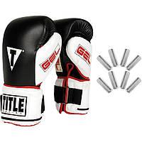 Перчатки снарядные с утяжелителями Title Boxing Gel Power Weighted Super Bag Gloves (GPWSBG)