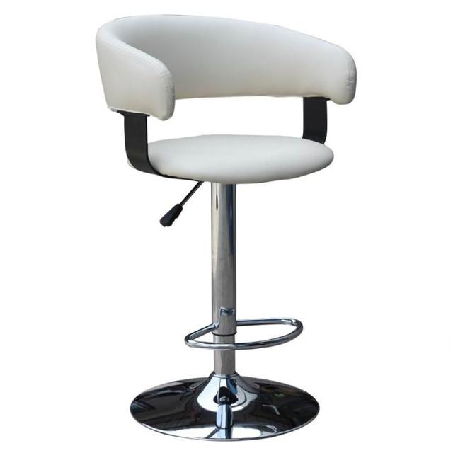 Кресло барное  Хром «Хокер Ницца» ТВ-8719 PU  кремовый.