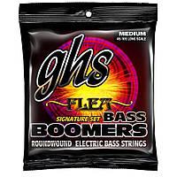 Струны для бас-гитары GHS M3045F Flea Signature Boomers Medium Electric Bass Guitar Strings 45-105
