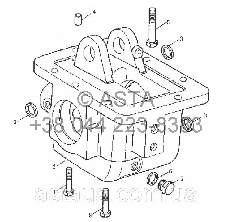 Раздаточная коробка блока на YTO X754