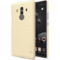 Чехол для сматф. nillkin huawei mate 10 pro - frosted shield (gold)