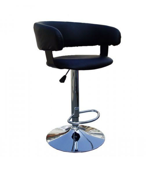 Кресло барное  Хром «Хокер Ницца» ТВ-8719 PU  черный.