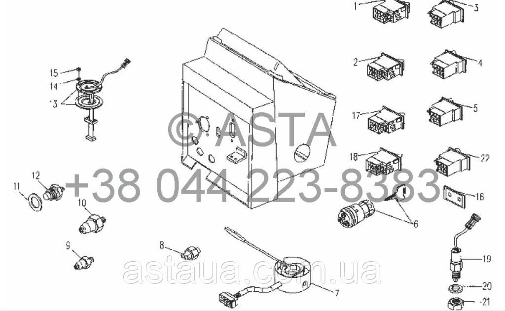 Элементы управления - электрическая система на YTO X754