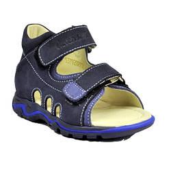 Босоножки для мальчика синие из замши, Eleven Shoes